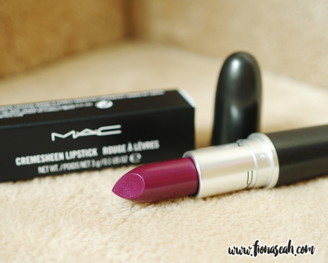 Quelle Surprise is a deep purple berry with a Cremesheen finish (US$17)