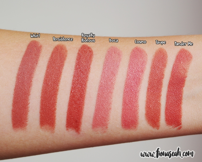 Royally Riotous swatch comparison
