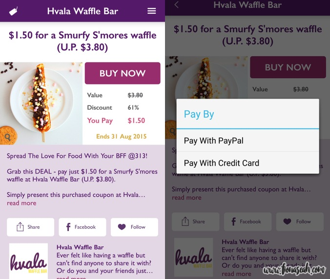 Hvala Waffle Bar deal happening right now!