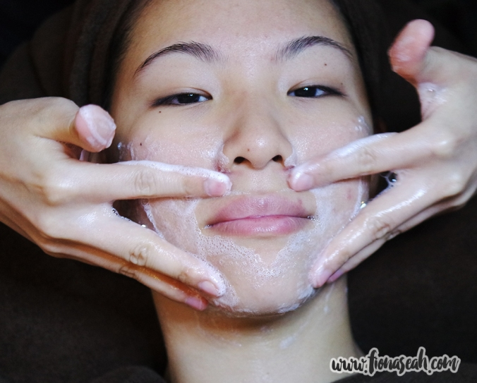 Cleansing to remove any product you might have applied onto your face earlier
