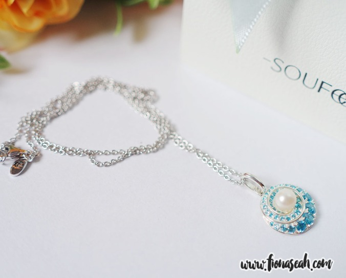 Whirlpool Pearl Necklace 925 Sterling Silver, now on offer at S$49