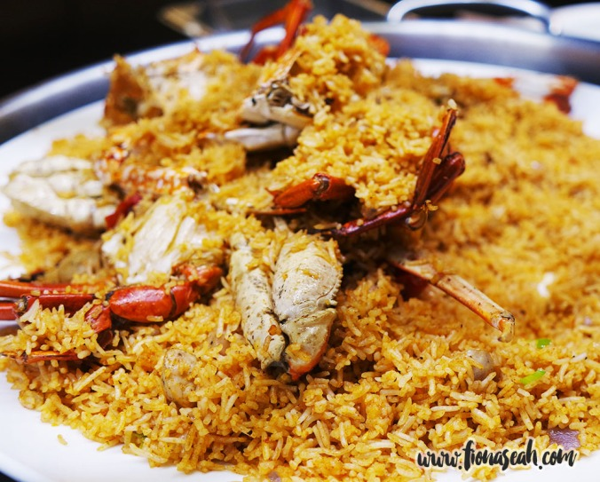 Spanish Paella with Baked Crab and Tomato Sauce
