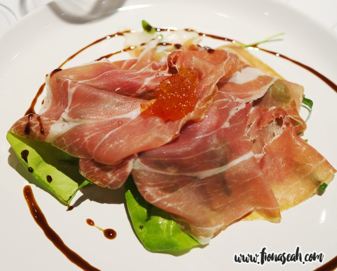 Proscuitto de Parma served with San Marzano Tomatoes