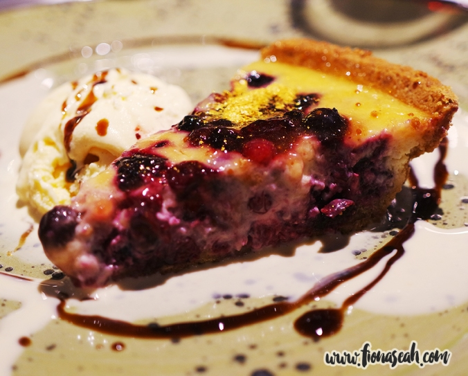 Wild Berries Tart with Creme Fraiche and Vanilla Sauce