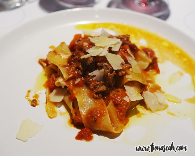 Pappardelle served with Duck Ragout