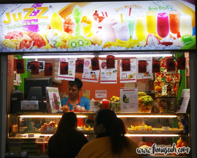Freshly prepared fruit juice, just outside Astar!