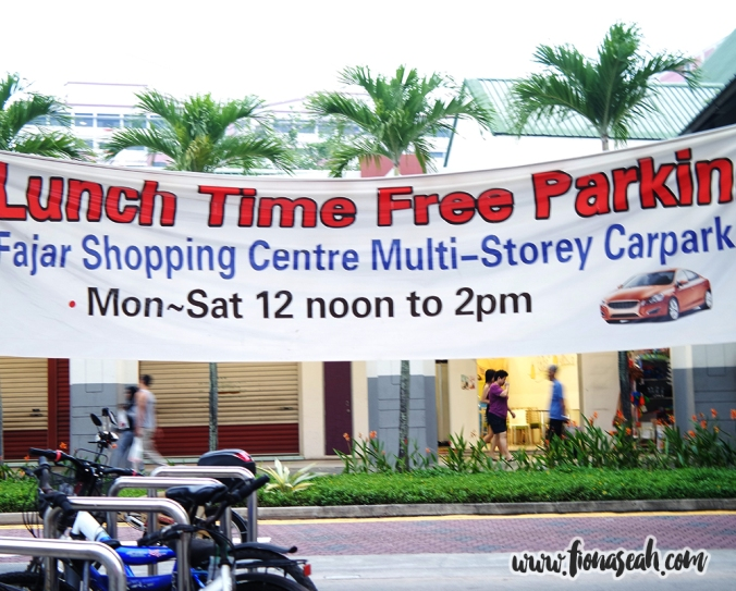 Free Lunchtime Parking!