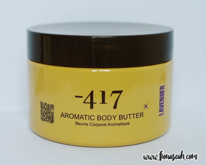 -417 Aromatic Body Butter in Lavender (250ml / 8.5oz, RP: $120 but you can get it a lot cheaper. Scroll down for more info!)