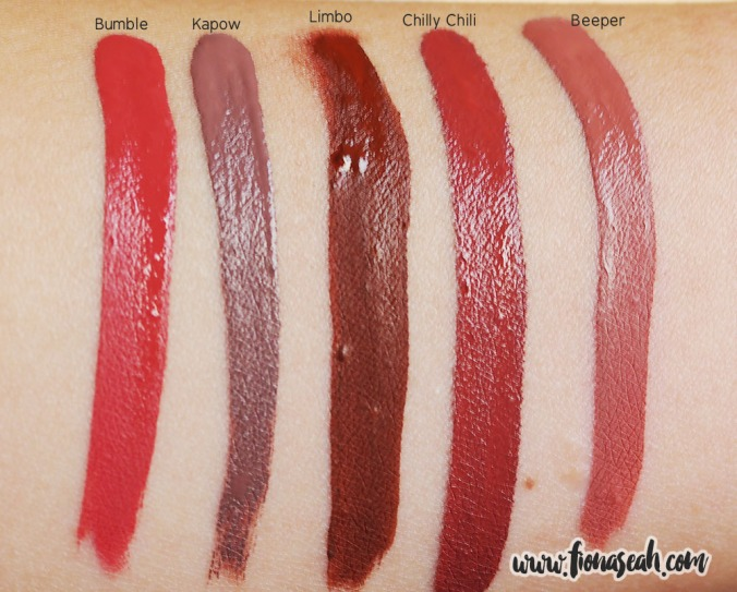 Swatch comparison with other ColourPop Ultra Matte Lip shades