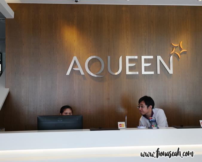 Aqueen Hotel reception