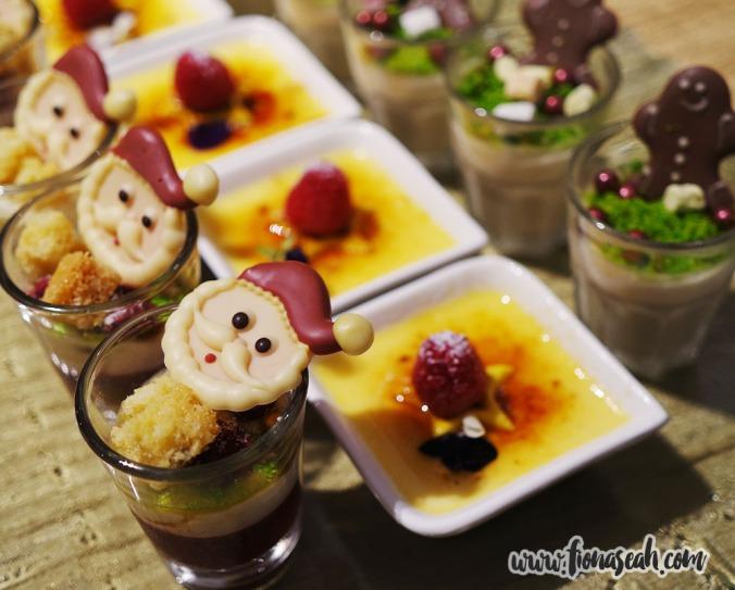 Dessert spread at the buffet