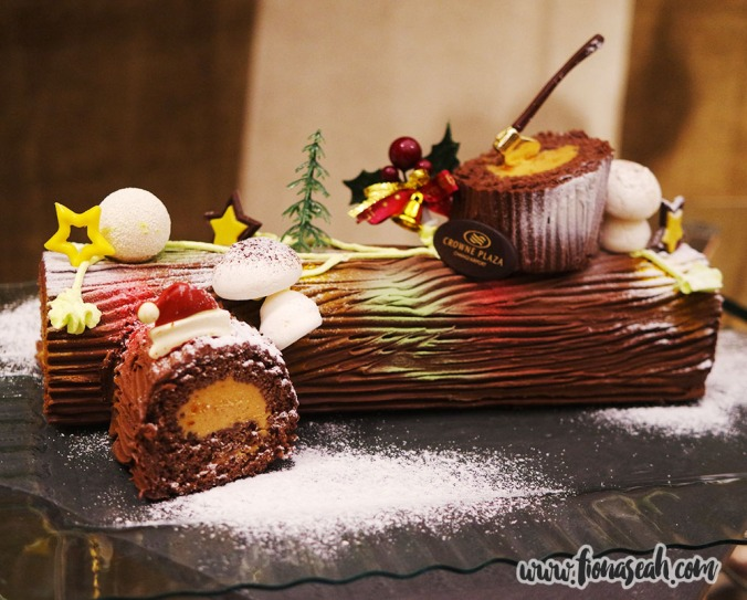 Manjari Chocolate & Hazelnut Praline Yule Log Cake ($65+)