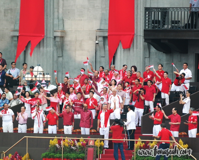 The arrival of Prime Minister, Mr Lee Hsien Loong