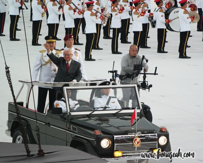 President Tony Tan waving to the crowds