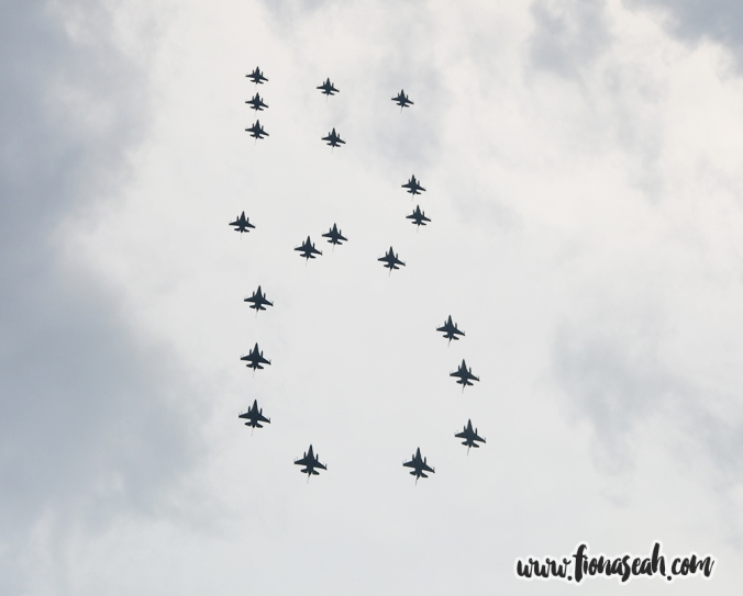 "A ""50"" formation flypast by the RSAF"
