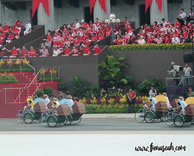 SIA air stewardesses and trishaw riders