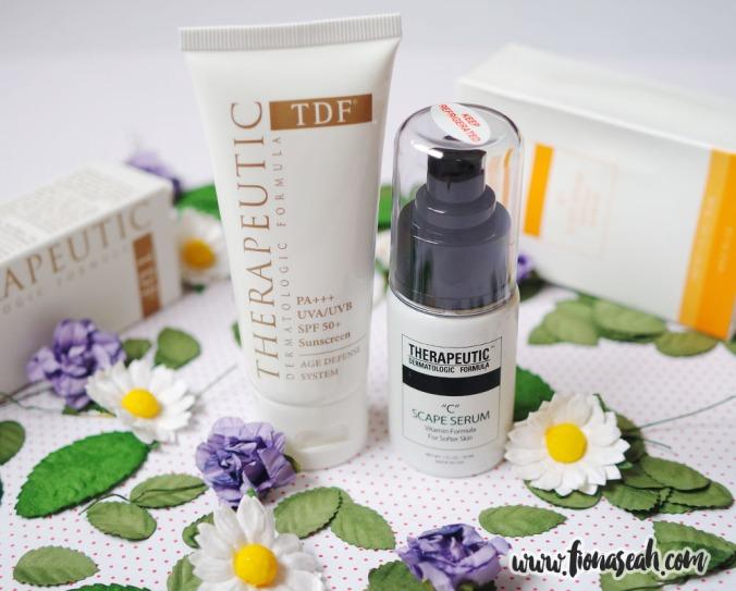 TDF Age Defense PA+++ UVA/UVB SPF 50+ Sunscreen & C-Scape Serum