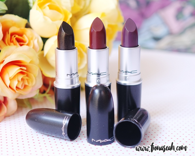Lipsticks (from left): Black Night, Heavy Petting & Boyfriend Stealer