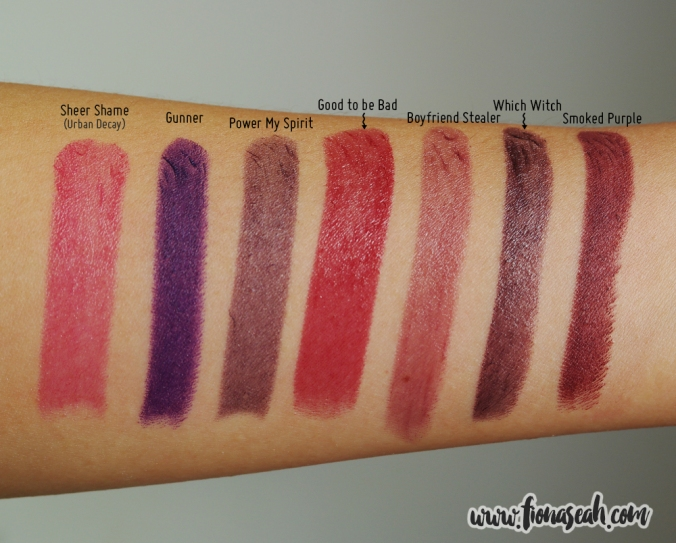 MAC Boyfriend Stealer swatch comparisons