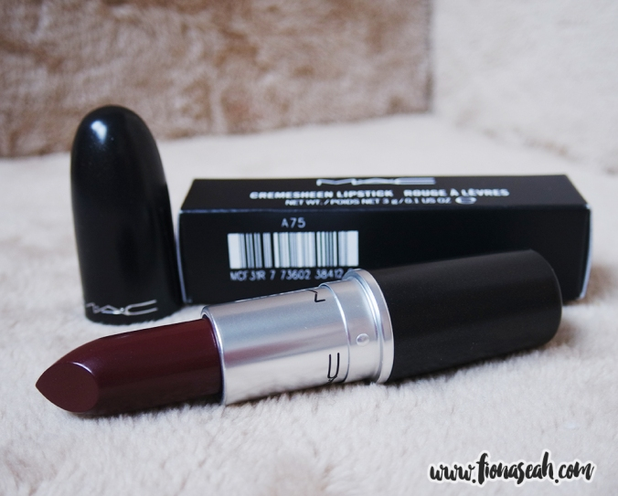 Heavy Petting is a burgundy with Cremesheen finish (US$17)