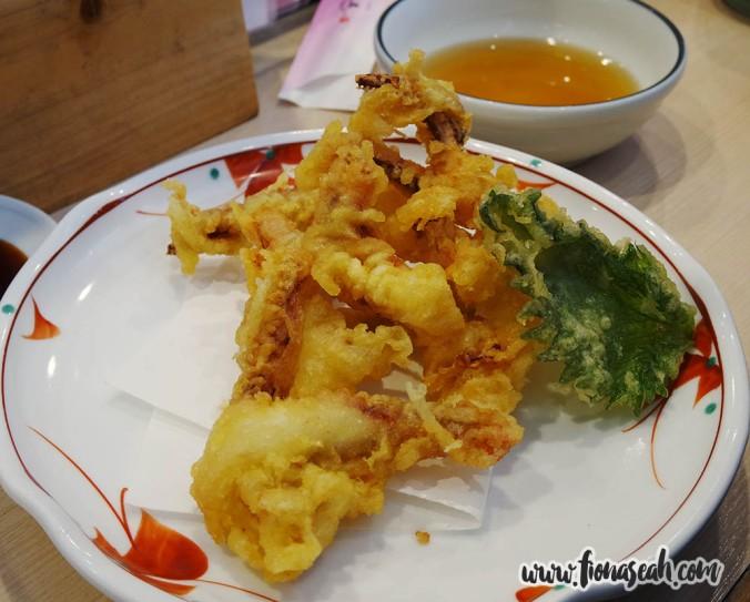 Squid Leg Tempura (¥480)