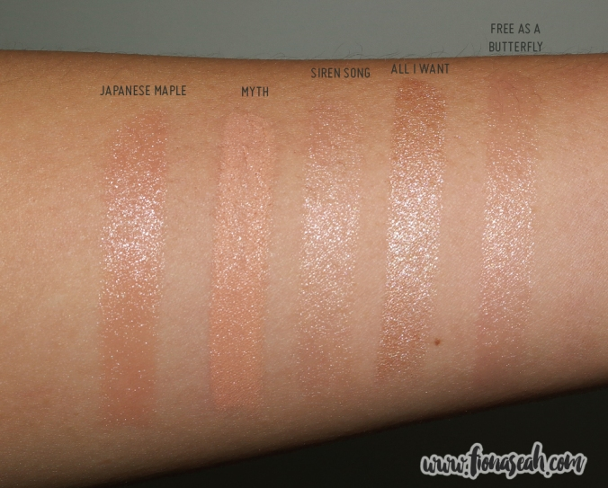 MAC All I Want swatch comparison