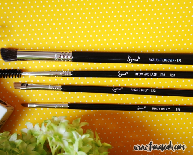 Sigma Beauty Brow Goals Brush Set (US$50)