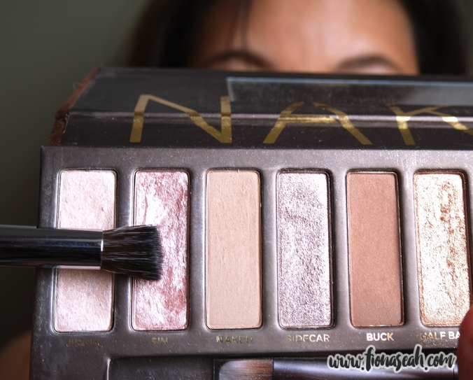 Using Urban Decay Naked Eyeshadow in Sin