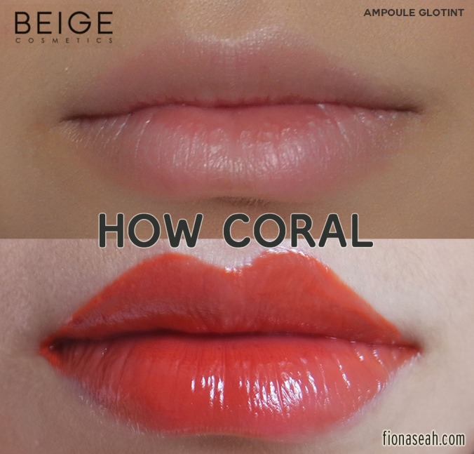 BEIGE Ampoule Glotint in #133 How Coral