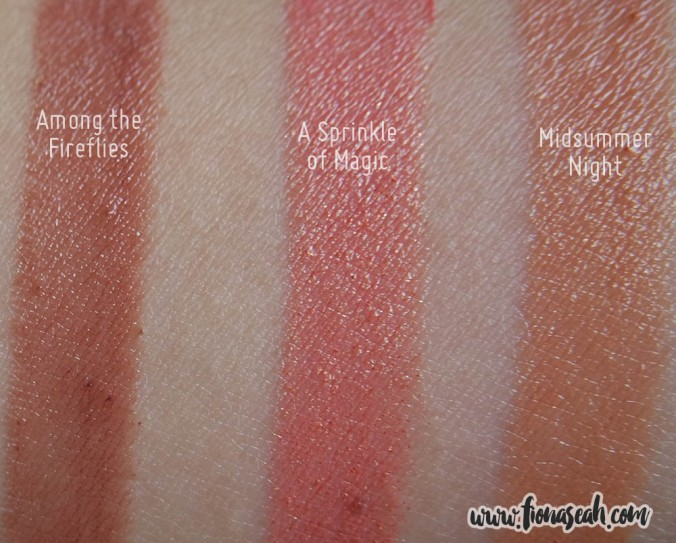 MAC Faerie Whispers Collection - lipstick swatches