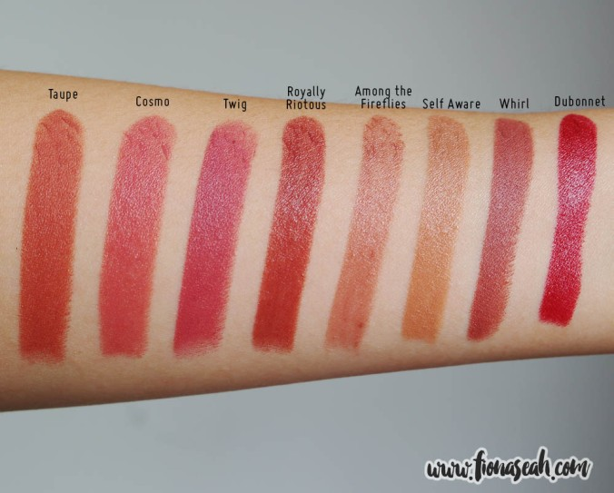 MAC Among the Fireflies - swatch comparison