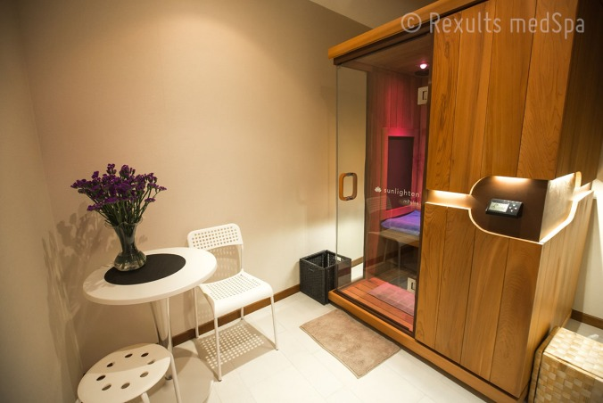 Infrared therapy sauna room