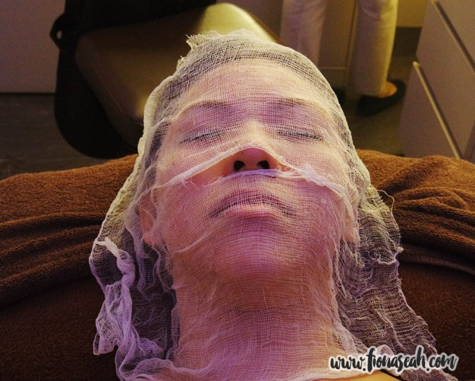 The last part of the facial therapy