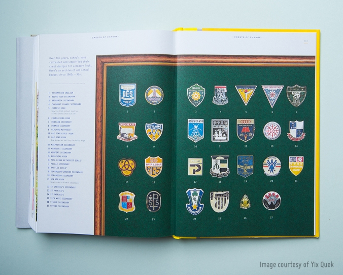 School badges, past and present