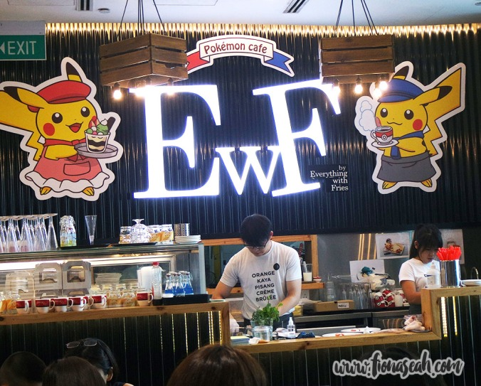 Pokemon cafe - bar and kitchen area