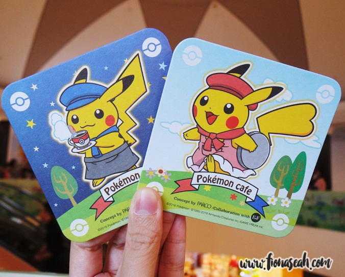 Complimentary Pokemon coasters with every drink purchase