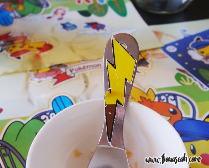 Stick-on Pikachu tail on all cutlery