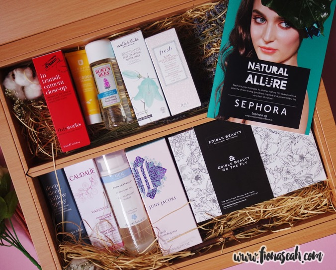 An overview of my beauty picks from the Sephora Natural Allure range