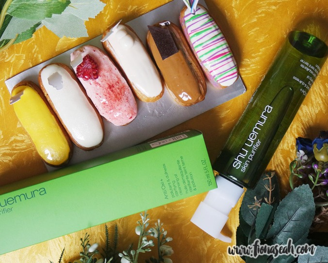 Special thanks to shu uemura for gifting me these lovely eclairs (baked by Two Bakers), modelled after 6 of their best sellers! They are DELISH.