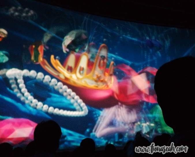 You can't see the visuals clearly without those 3-D glasses, but this part was on The Little Mermaid