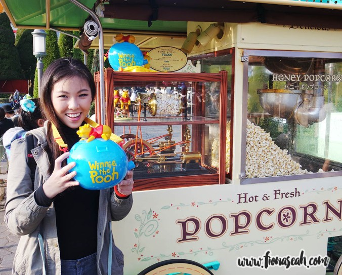 Winnie the Pooh refillable and reusable popcorn bucket!