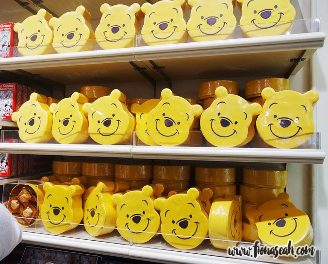 Boxes with a cushiony exterior shaped like Pooh's head!