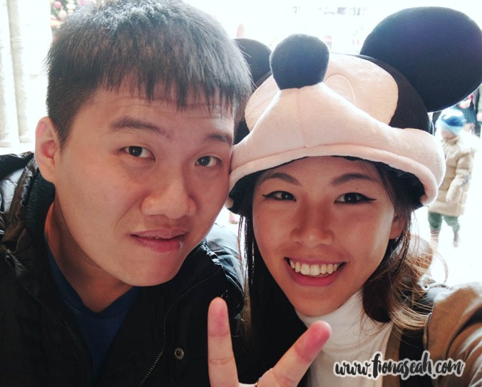 But first, a wefie! (And check out my Mickey headgear - yay!)