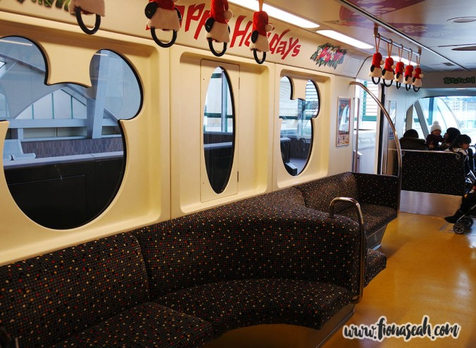 Comfy seats and Mickey-shaped windows