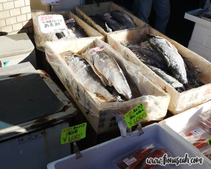 We finally saw fish for sale at the fame fish market :B