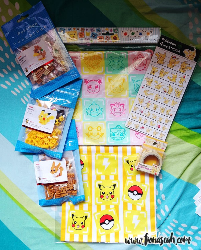Nanoblocks (waaaay cheaper in Japan!), pouch, stickers, sticky tape roll - all from Harajuku!