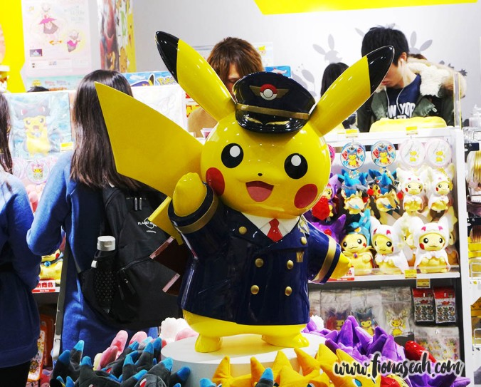 Of course, what other attire can Pikachu be donning in the airport?!