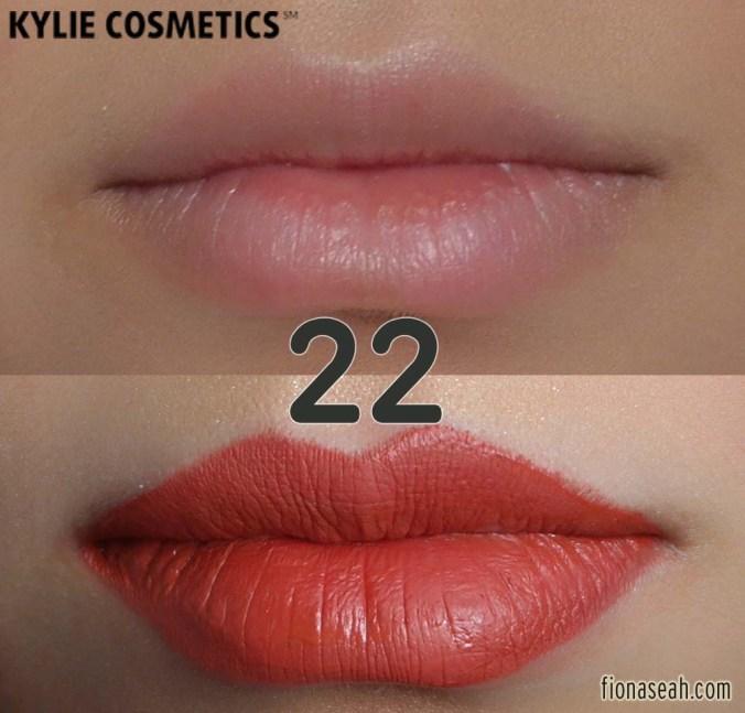 Kylie Cosmetics 22 Matte Lip Kit - Lip Liner + Liquid Lipstick