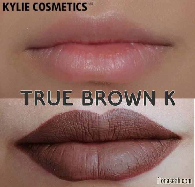 Kylie Cosmetics True Brown K Matte Lip Kit - Lip Liner + Liquid Lipstick
