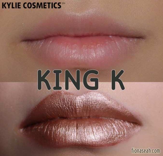 Kylie Cosmetics Metal Matte Liquid Lipstick in King K